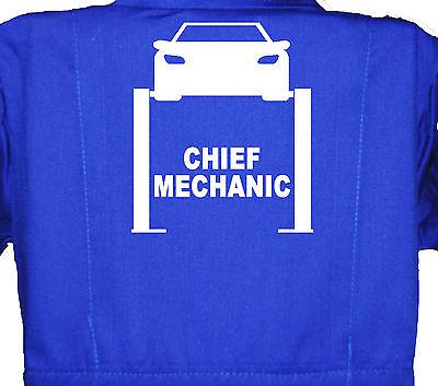Chief Mechanic, Childrens, Kids, Coverall,Boilersuit, Overall 1-8yrs Unisex   - Children's Mechanic Coveralls