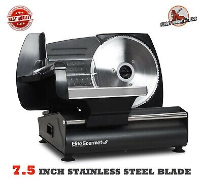 Electric Blade Meat Slicer Deli Cheese Food Cutter Kitchen Home Tool New