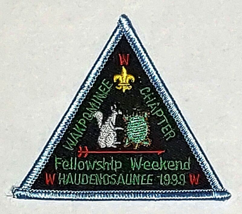 Lodge 19 Haudenosaunee Wakpominee Chpt eX1999 Fellowship Pocket Patch  OA  BSA