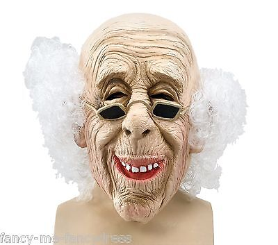 Adult Mens Ladies Old Man Rubber Face Mask Halloween Fancy Dress Costume Outfit