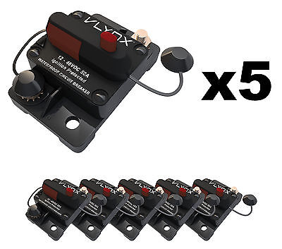 Qty5 Vcb50 Automotive 12v-48v 50 Amp Resettable Thermal Fuse Circuit Breaker