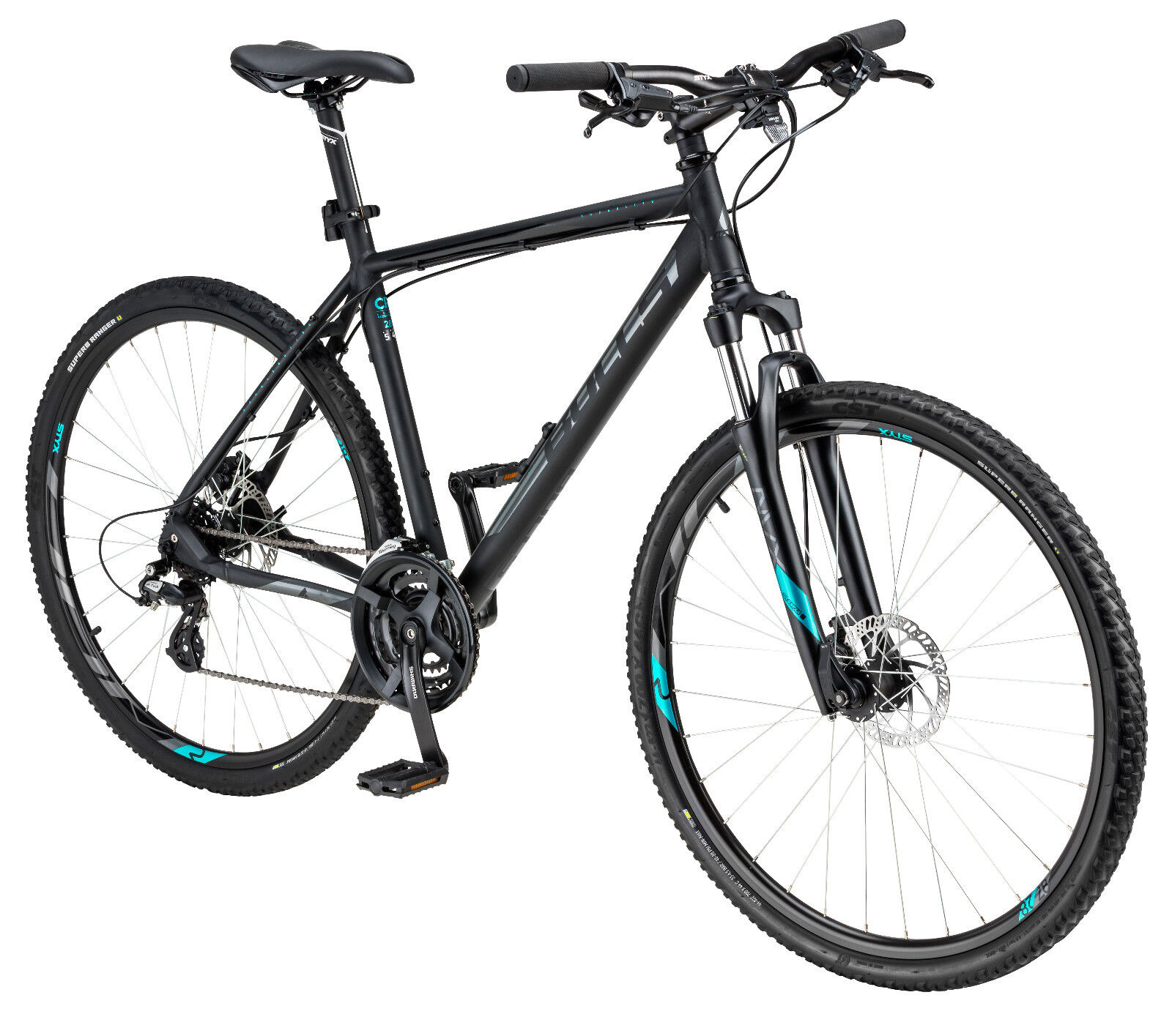 BULLS CROSSBIKE DISC 28 Zoll Crossrad Trekking Shimano Fahrrad schwarz 58cm 2019