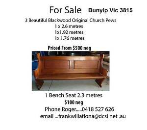 Original Blackwood Church Pews Bunyip Cardinia Area Preview