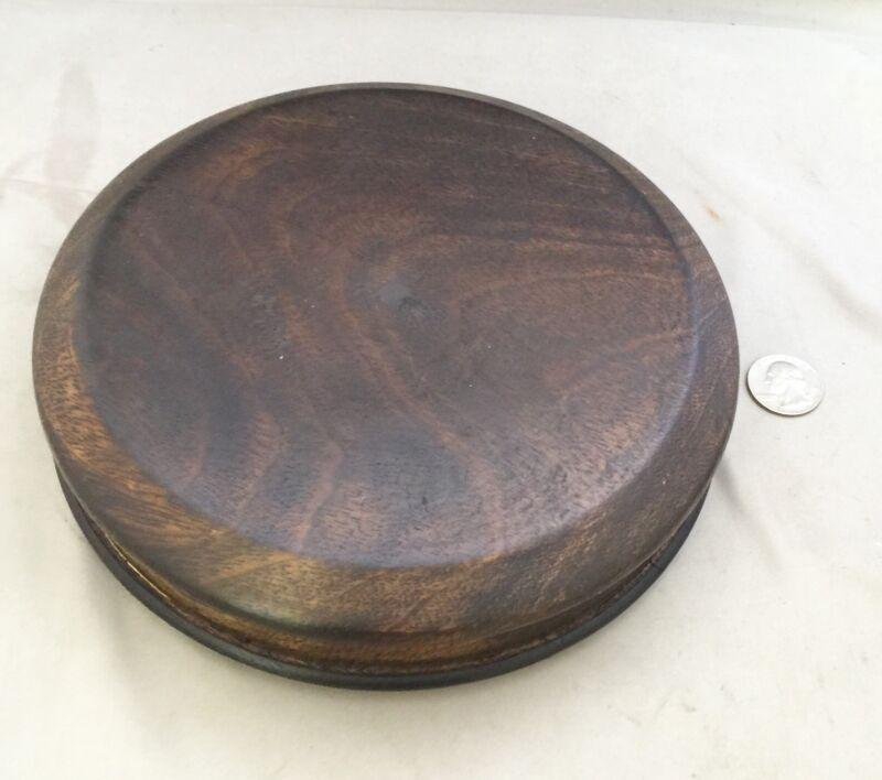 "6.5"" Inner Diameter 8"" OD Chinese Oriental Wooden Lid Or Stand Ginger Jar Vases"