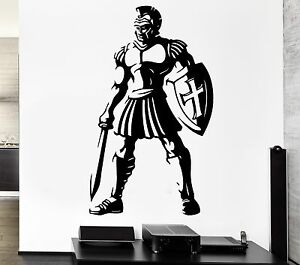 Wall decal warrior ancient rome weapons sword gladiator for Wall stickers roma