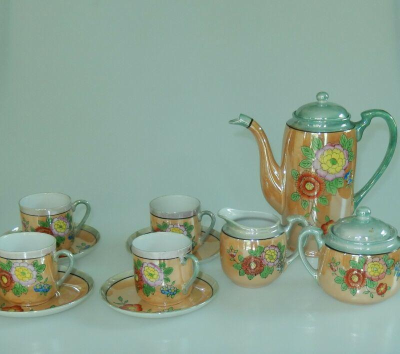 Hotta Yu Shoten & Co. Lusterware Miniature Tea Set 1920