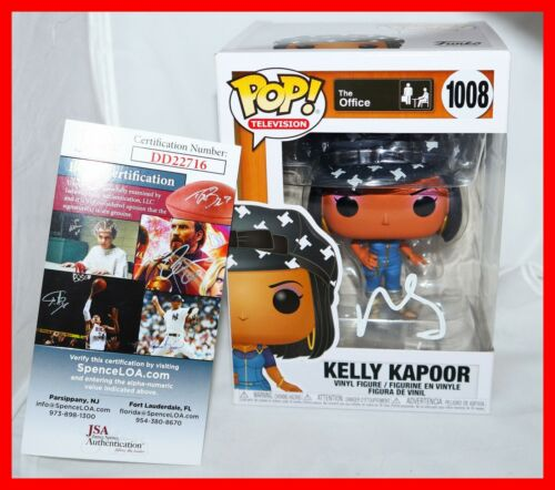 🔥 RARE Mindy Kaling Signed Autographed The Office Kelly Kapoor Funko POP JSA