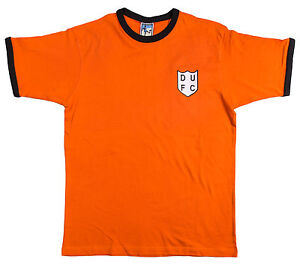 Retro-Dundee-United-1950s-Football-T-Shirt-New-Sizes-S-XXL-Embroidered-Logo