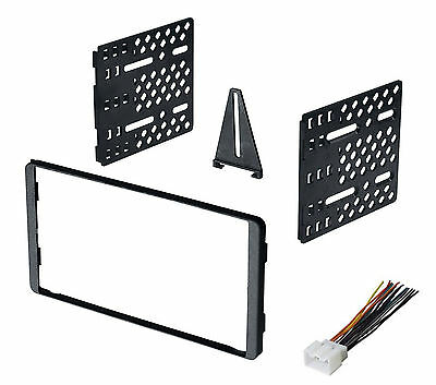 Double Din Car Radio Stereo Dash Kit 1995-2012 Ford Mercury Lincoln + Harness