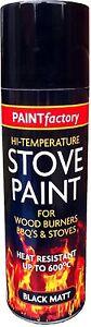 Heat Resistant Matt Black Spray Paint Stove High Temperature 200ML Sale