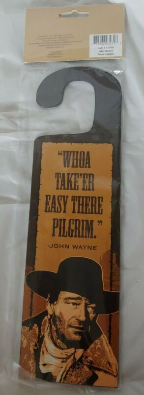 """The Duke"" John Wayne Double-Sided Quotes and Pictures Door Hanger NOS"