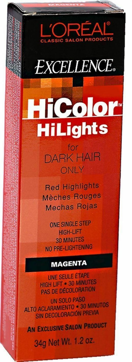 Loreal Excel Hicolor Hilights Magenta For Dark Hair 12 Oz Ebay