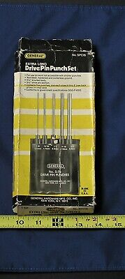 General Hardware Mfg. Extra Long Drive Pin Punch Set (used)