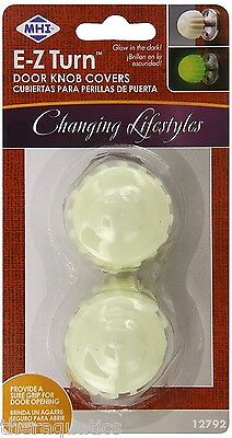 Mommy's Helper E-Z Turn Door Knob Covers Arthritis Mobility Glow in the Dark