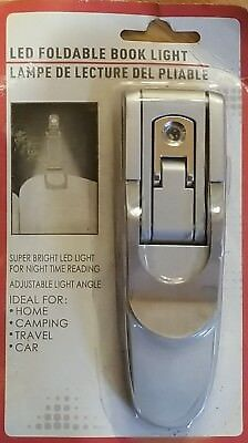 LED Foldable Portable Clip On BOOK Reading LIGHT Lamp NEW!