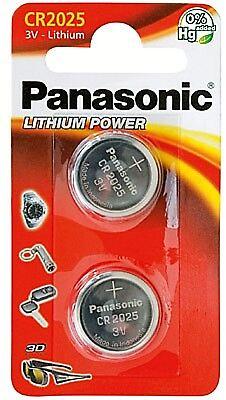 1 x 2 Panasonic CR2025 3V 165mAh Lithium Power Knopfzelle im 2erBlister    (Panasonic Cr2025)