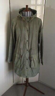 Vintage Adidas Originals Green Parka Coat Jacket Size 36