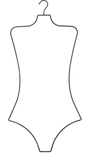 NAHANCO BFWBR12 Ladies Wire Swimwear Body Hanger, Black Rubberized (Pack of 14)