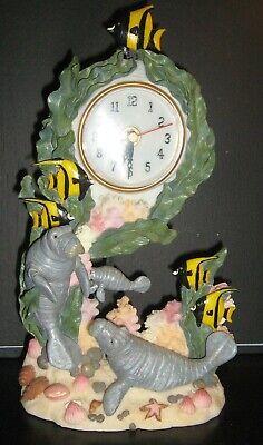 Under the Sea MANATEE Pendulum Standing Counter Clock - WORKS