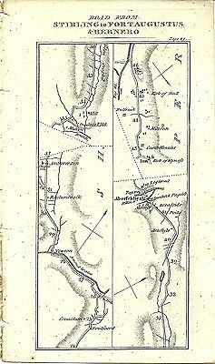 Antique map, Stirling to Fort Augustus & Bernero (2)