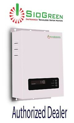 Tankless Water Heater Electric SioGreen SIO14 Infrared Best 3.5 GPM 220 240 volt