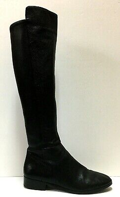 Michael Kors Black Over-the-Knee Pebbled Leather Riding Boots, 8.5M