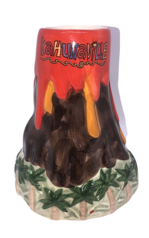 Kahunaville Tiki Volcano Mug Treasure Island Bar Ware Las Vegas Rare