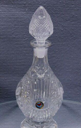 Vintage Hofbauer Byrdes Bird Brilliant Cut Crystal Glass Decanter with Stopper