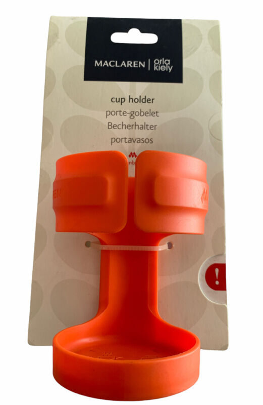 NEW Maclaren Baby Orla Kiely Orange Cup Holder