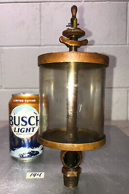 American Lubriucator Co. 6 Brass Oiler Hit Miss Gas Engine Antique