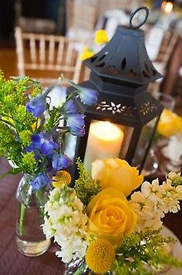 "20 small 8"" black stagecoach Lantern Candle holder wedding florist centerpiece"
