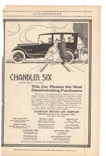 1916 Chandler Motor Car Company Advertisement