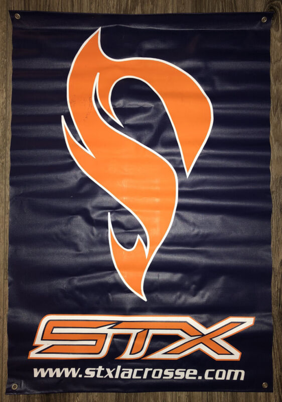 STX Lacrosse Blue Advertising Logo Banner Sign 24 x 35 Inches Lax