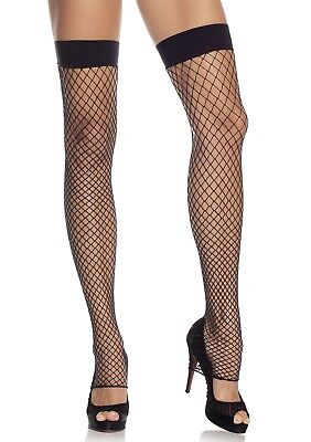 Leg Avenue 9089 Fishnet Footless Thigh Highs Stockings