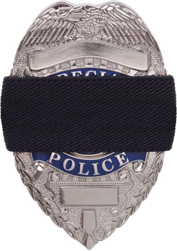 Black Elastic Police Law Enforcement Officer Badge Mourning Band