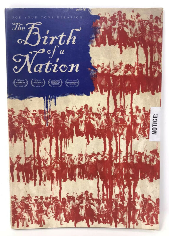 THE BIRTH OF A NATION For Your Consideration FYC DVD Movie 2017 SEALED Promo