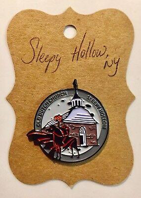 "Sleepy Hollow-ONLY ONE ON EBAY! Headless Horseman Pin ""PURCHASED IN SH CEMETERY"" - Halloween In Sleepy Hollow"