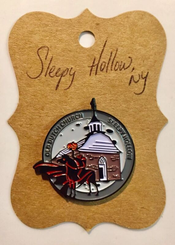 "Sleepy Hollow-ONLY ONE ON EBAY! Headless Horseman Pin ""PURCHASED IN SH CEMETERY"""