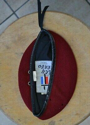 beret rouge parachutiste francais taille 54 tbe n°7