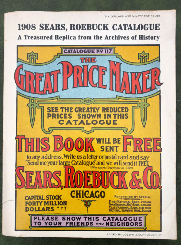 1908 Sears Roebuck Catalogue No. 117 (1969 Reproduction) Very Good Condition