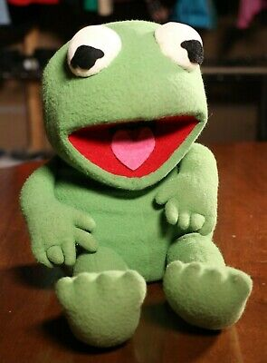 """Vintage Kermit The Frog Plush Toy Doll The Muppets 15"""""""