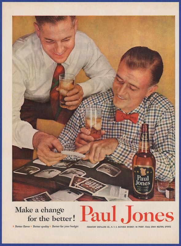 Vintage 1954 PAUL JONES Whiskey Alcohol Liquor Restaurant Bar 50