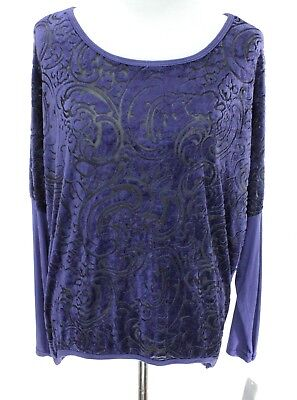 Angela Sweater (Angela Mara NWT Women Crewneck Sweater Size M Plum See-Through Geometric Print )