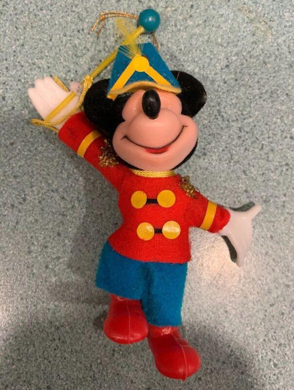Vintage Mickey Mouse Flocked Ornament Hong Kong Band Leader