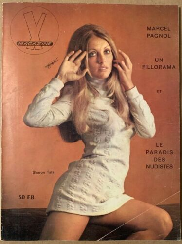 "Sharon Tate - 1969 French ""X""  Magazine - See Description"