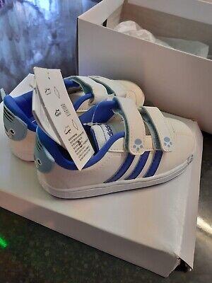 Adidas Neo Court Animal Infant Size infant uk 8.5 k White Blue kids