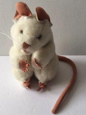 Folkmanis Puppets White Mouse Rat Plush Stuffed Animal Full Body Puppet  So Cute