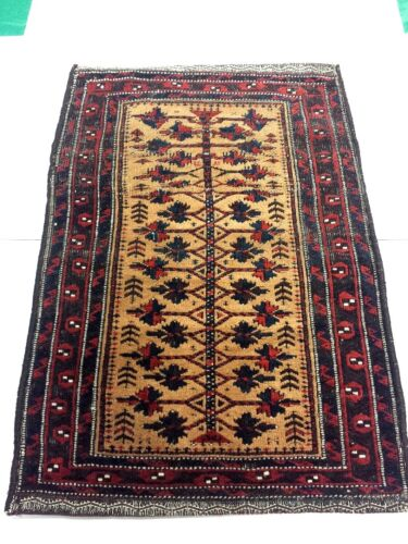Antique Hand Knotted Authentic Baluchi Russian Rug