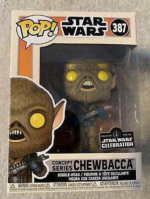 Funko Pop Chewbacca Concept 2020 Galactic Con Star Wars Celebration Sticker