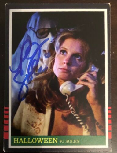 Halloween PJ SOLES SIGNED One of a Kind Card - RARE